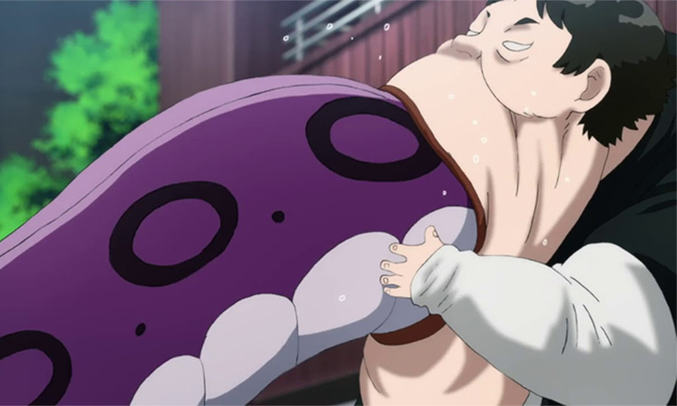 Pig God One Punch Man anime screenshot