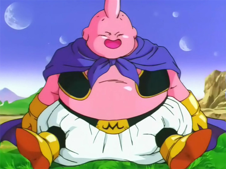 Majin Buu en Dragon Ball Z Los mejores personajes de Anime gordos (Clasificados)