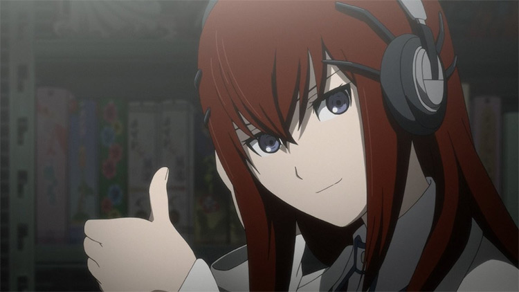 Makise Kurisu in Steins; Gate anime