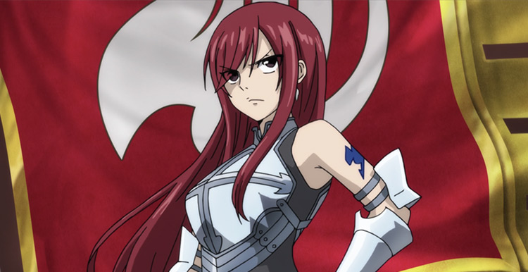 Erza Scarlet in Fairy Tail screenshot