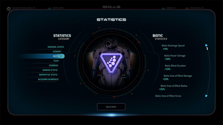 Enhanced Statistics Page mod in ME Andromeda