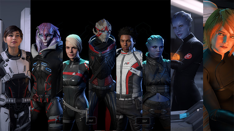 Squadmate and NPC Outfit Recolors ME Andromeda game