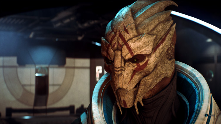 Turian Makeover Mass Effect: Andromeda gameplay