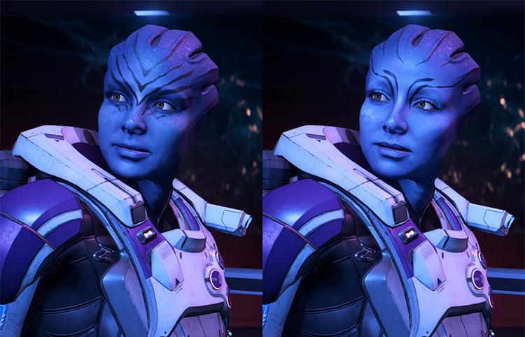 Asari Tweaks mod in ME Andromeda