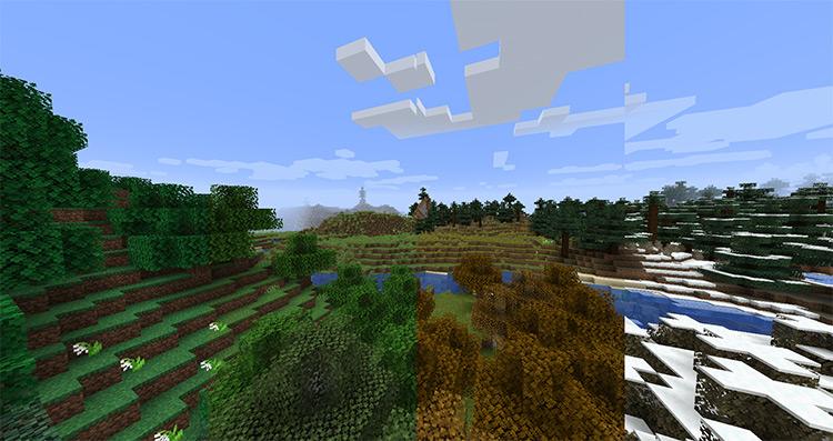 Serene Seasons mod in Minecraft