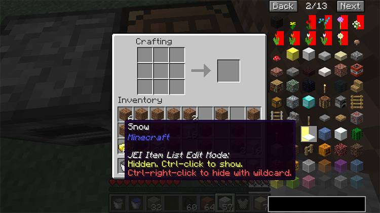 Just Enough Items Minecraft mod