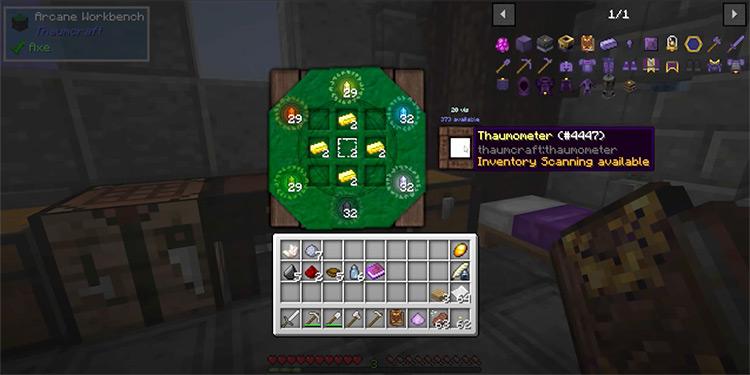 Thaumcraft Minecraft mod gameplay