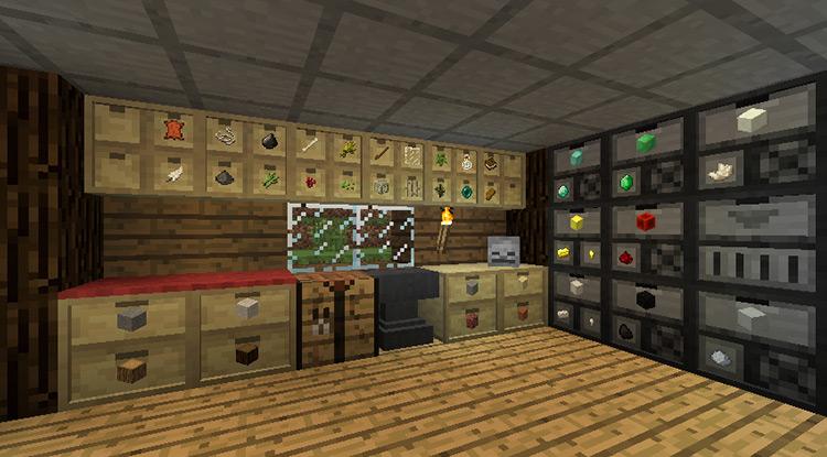 Storage Drawers Minecraft game mod