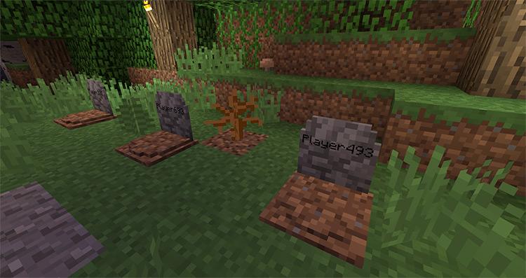 Gravestone Mod for Minecraft