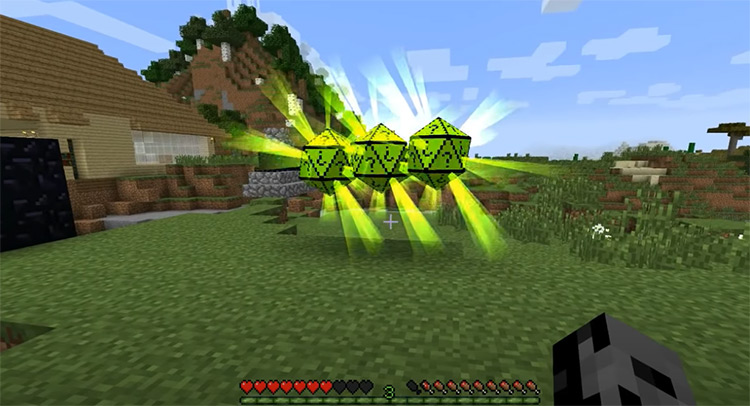 Chance Cubes mod in Minecraft