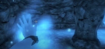Blue environment Oblivion spellcasting screenshot