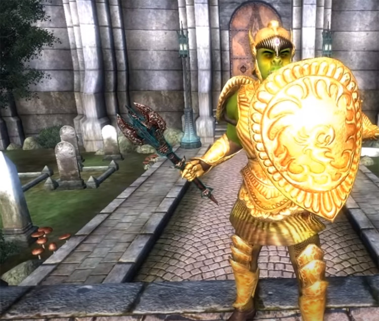 Max Golden Saints armor Oblivion