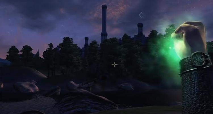 Drain HP TES Oblivion spell