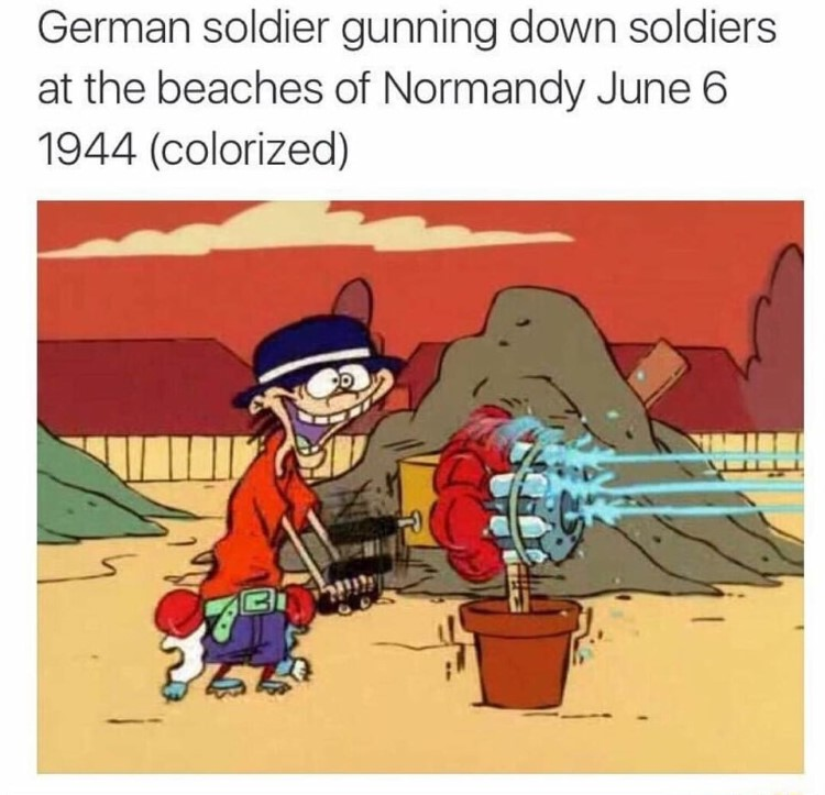 German Soldier Normandy, Double D EEnE meme
