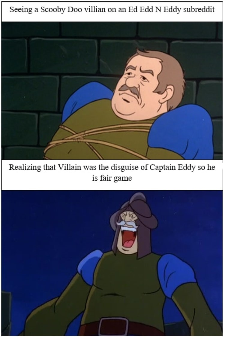 Scooby doo villain on EEnE meme