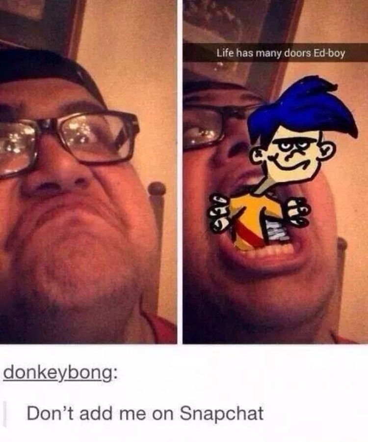 Rolf coming out of mouth, life has many doors edboy
