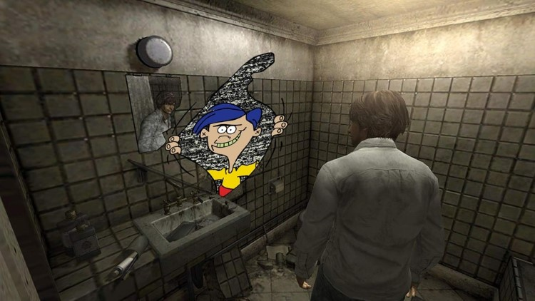 Rolf in the bathroom