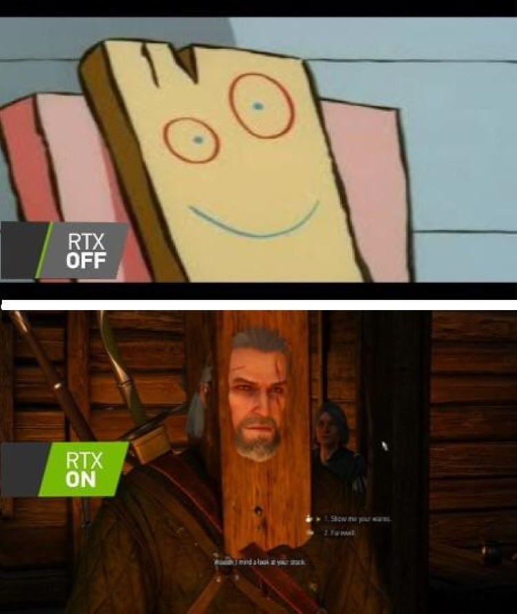 Plank RTX OFF vs RTX ON