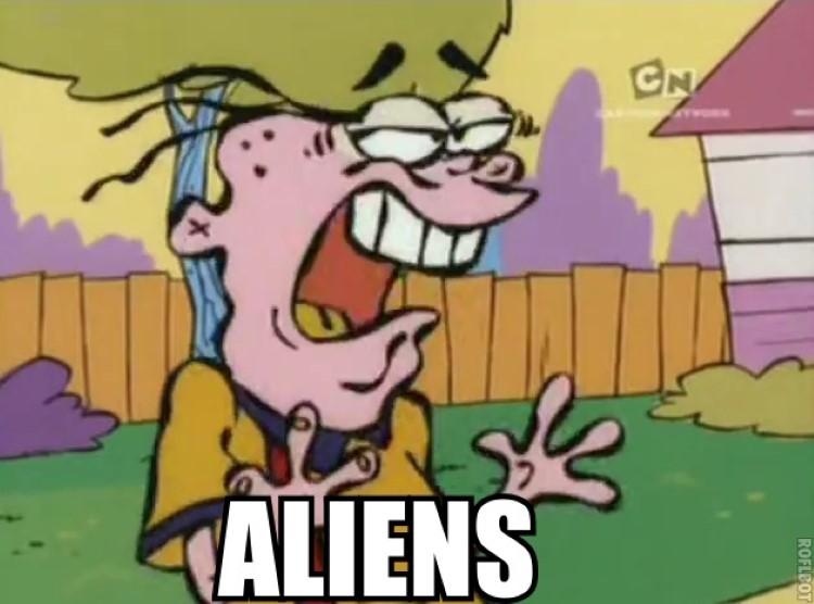 Eddy meme parody, Aliens
