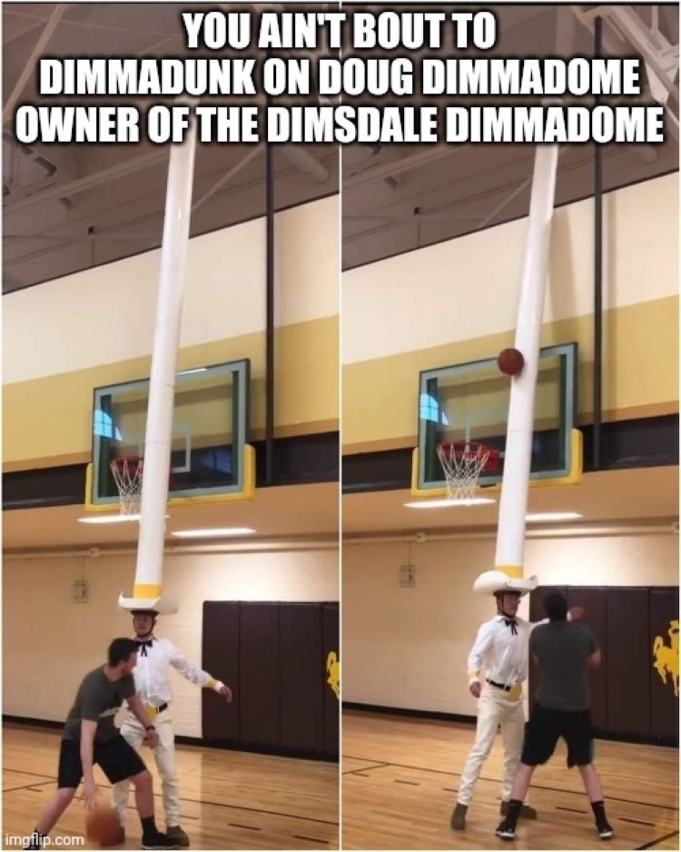 You aint bout to dimmadunk on Doug Dimmadome! meme