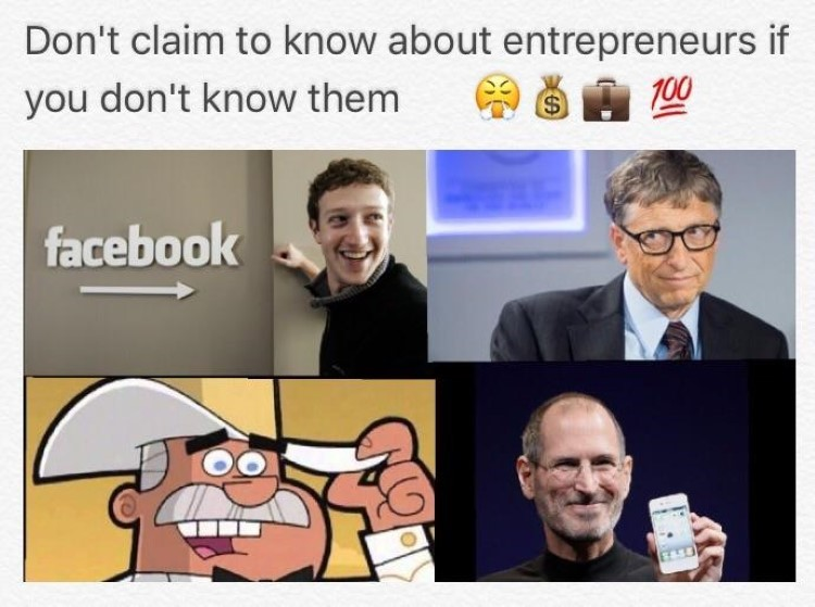 Dont know about entrepreneurs unless you know Doug Dimmadome