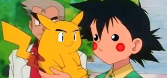 Pikachu and Ash face swap anime meme