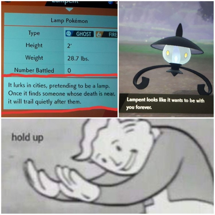 Hold up Lampent meme