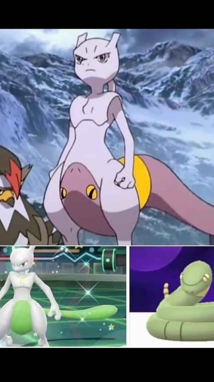 Mewtwo shiny ekans meme