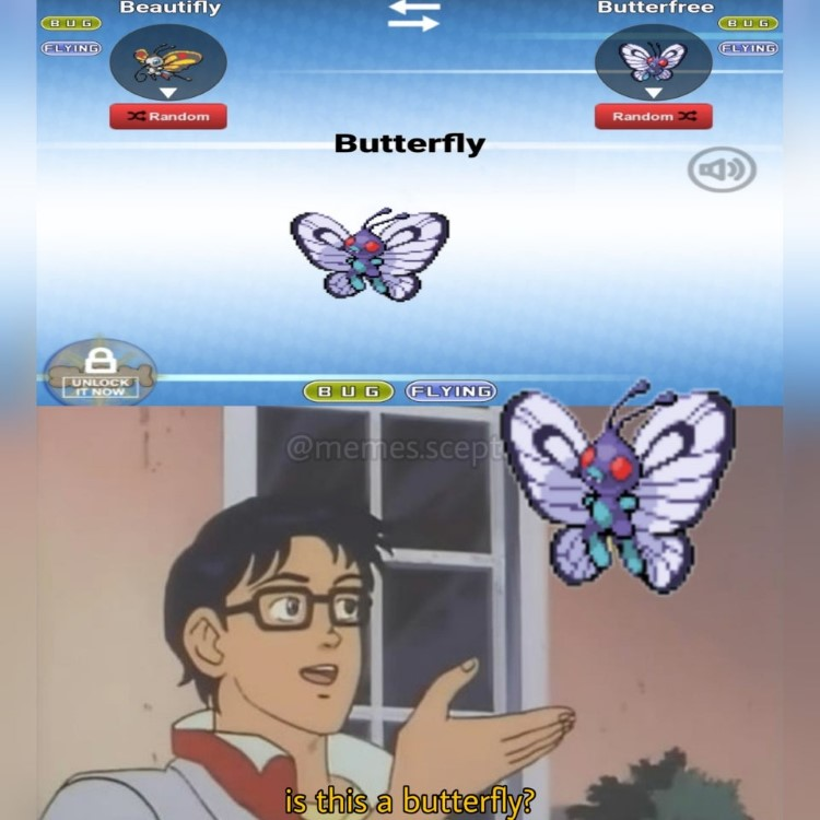 Butterfree and Beautifly, is this a butterfly?