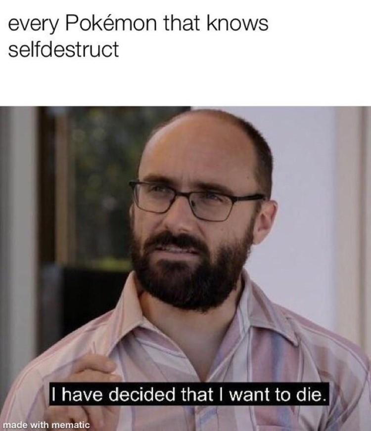 Pokemon uses selfdestruct meme