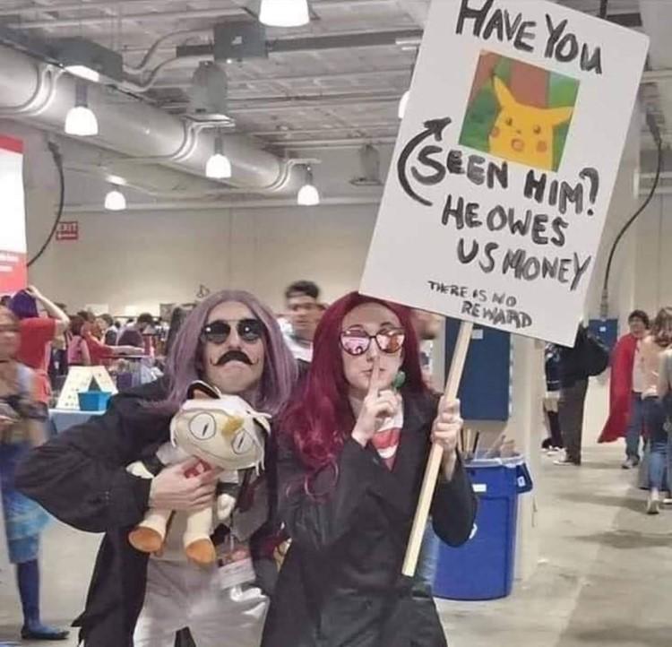 Have you seen Pikachu? Team Rocket cosplay meme