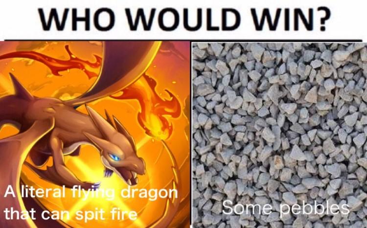 Charizard Who would win meme