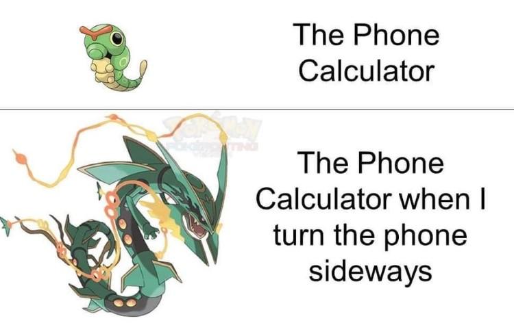 The Phone Calculator vs sideways