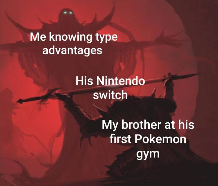 Knowing type advantages meme