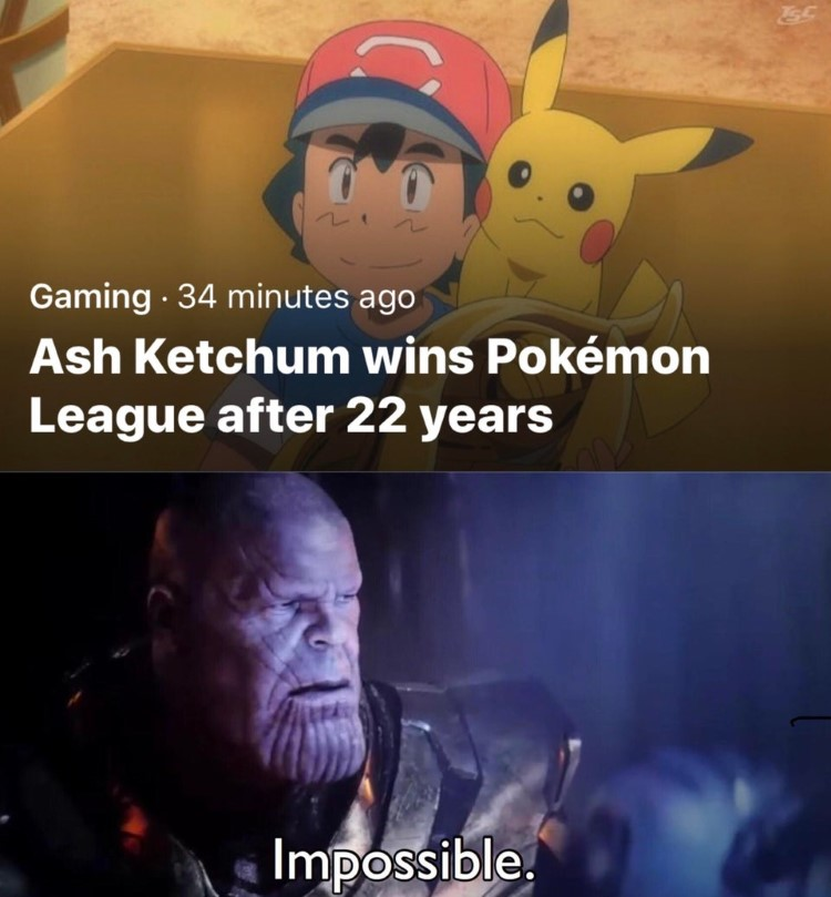 Ash wins Pokemon league after 22 years as a child