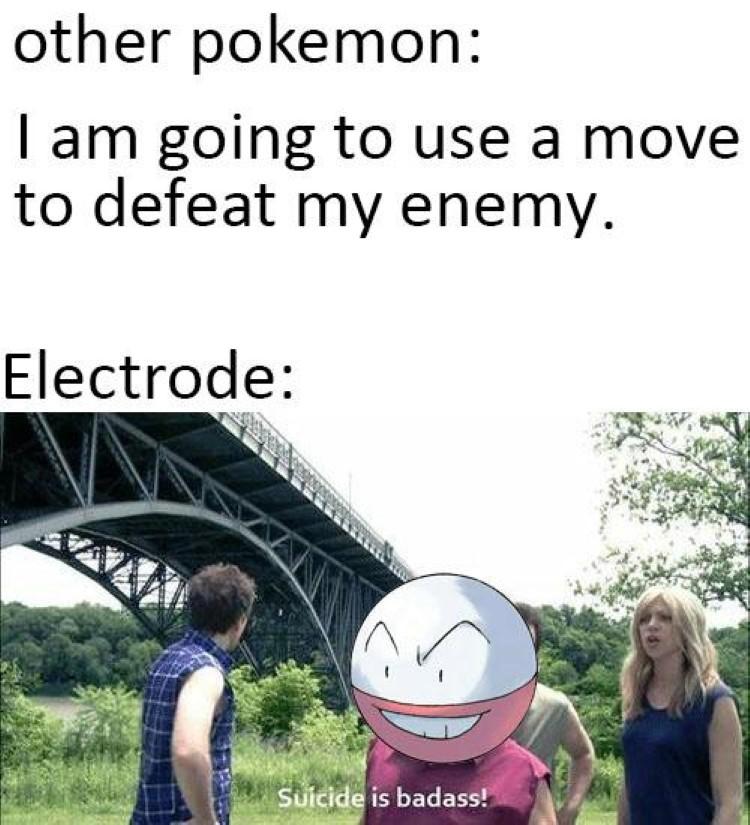 Electrode doing selfdestruct meme
