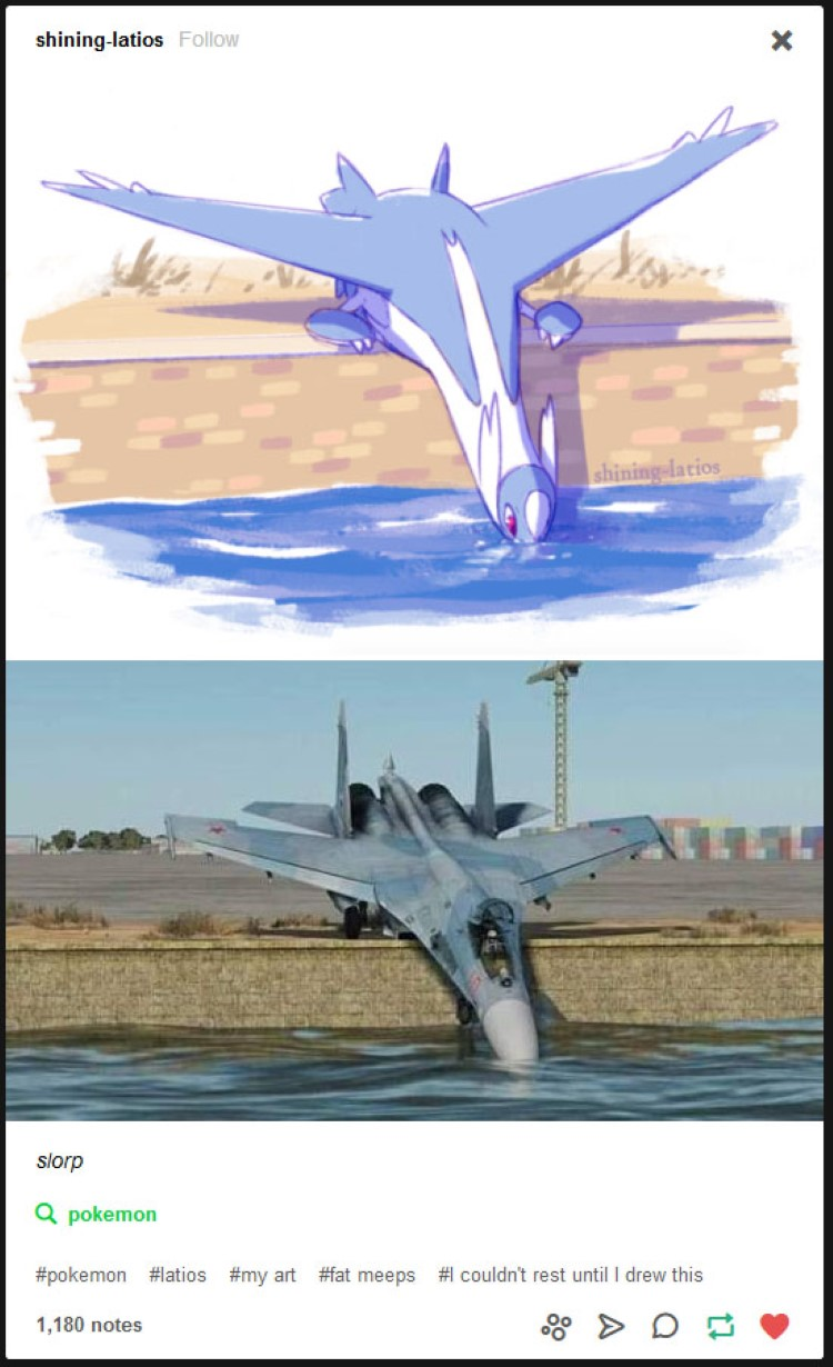Slorp Slorp Slorp - drinking Latios