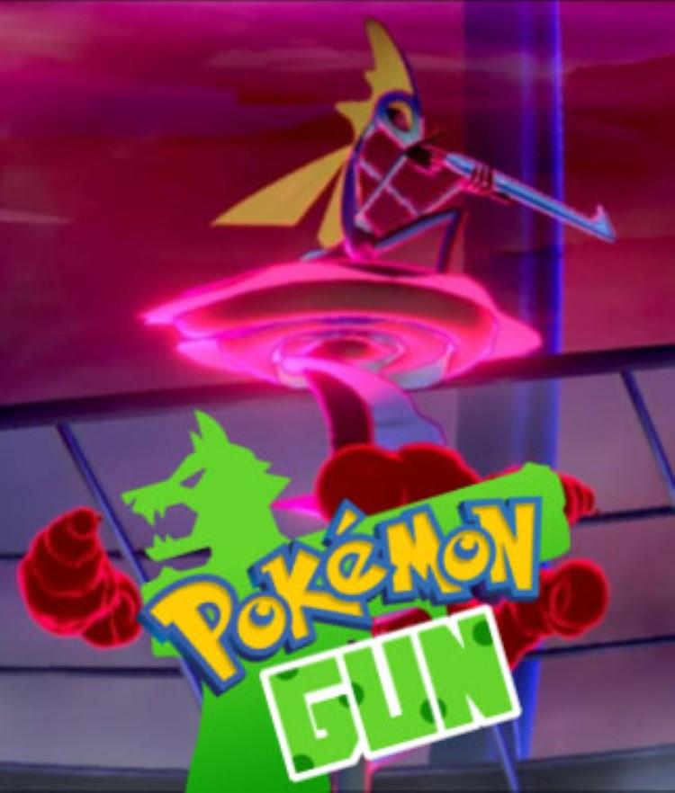 Pokemon Sword, Shield and Gun meme