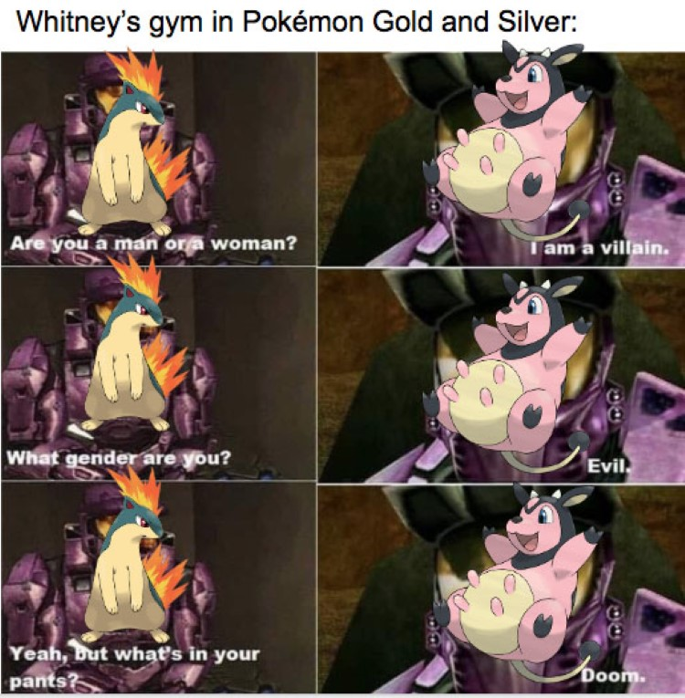 Gold and Silver, Whitneys Miltank meme