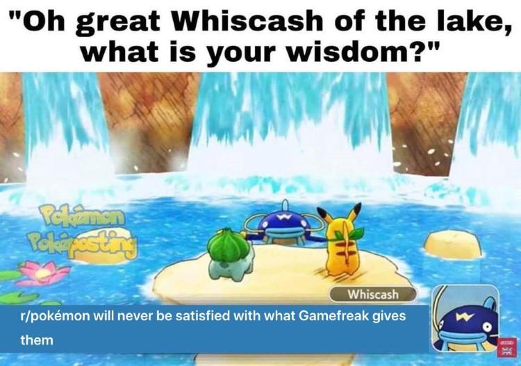 Waterfall Gamefreak Wiscash meme