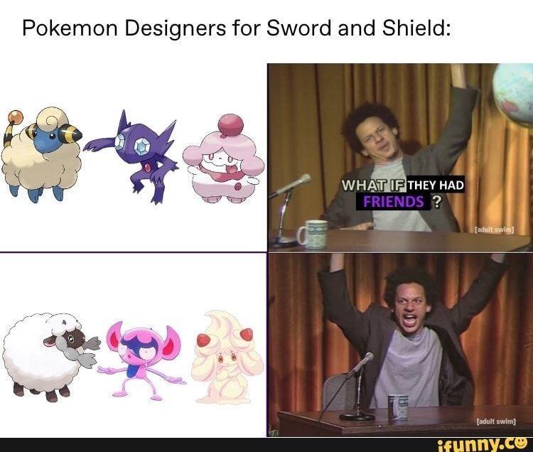 Pokemon designers for SwSh meme