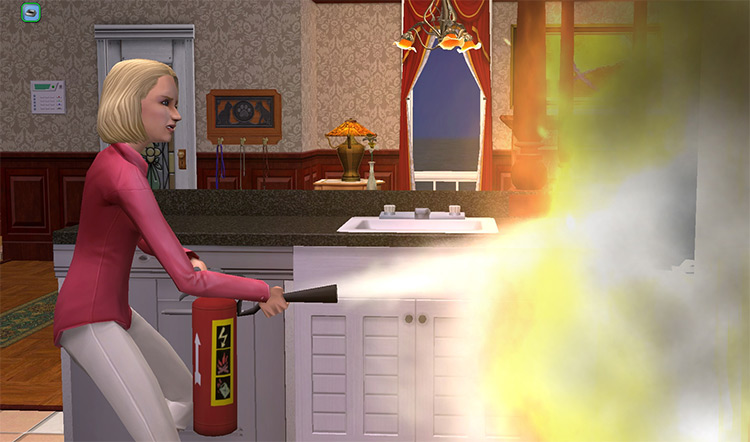 Fire Mod in Sims2