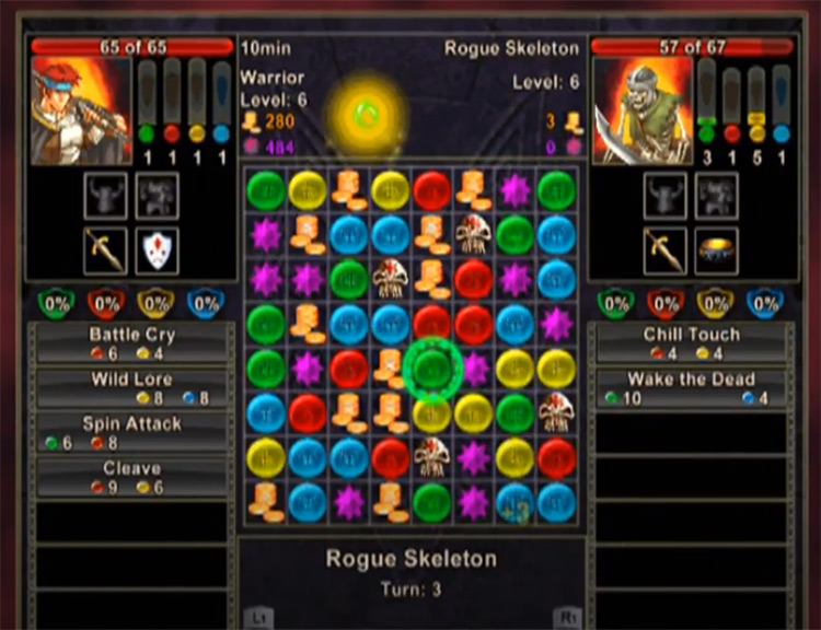 Puzzle Quest: Challenge of the Warlords PS2 screenshot