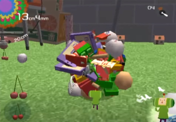 Katamari Damacy PS2 gameplay screenshot