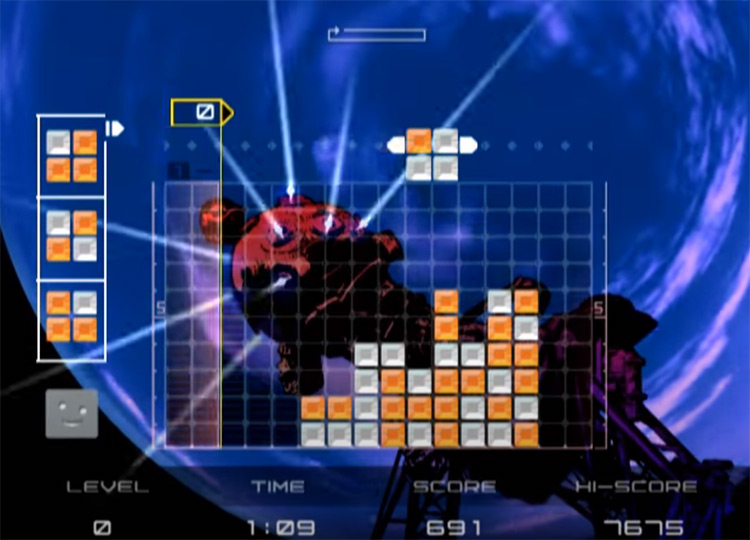 Lumines Plus on PS2 screenshot