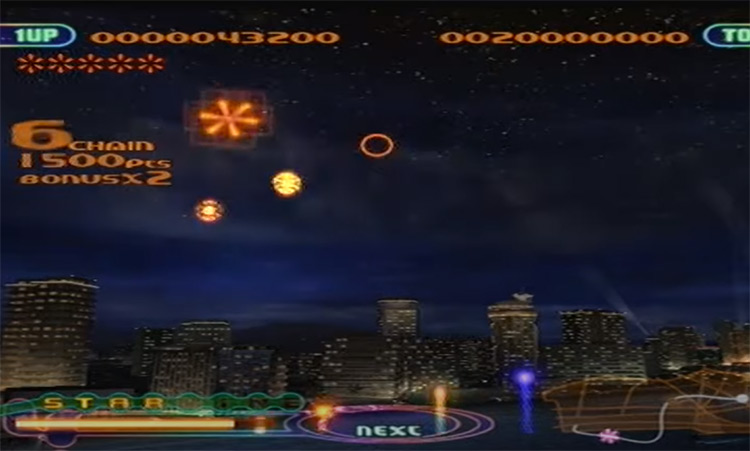 Fantavision gameplay screenshot on PS2