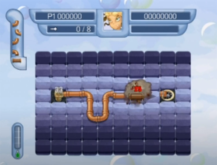 Pipe Mania PS2 gameplay screenshot