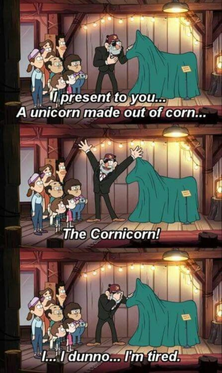I present to you a unicorn made out of corn... The Cornicorn!