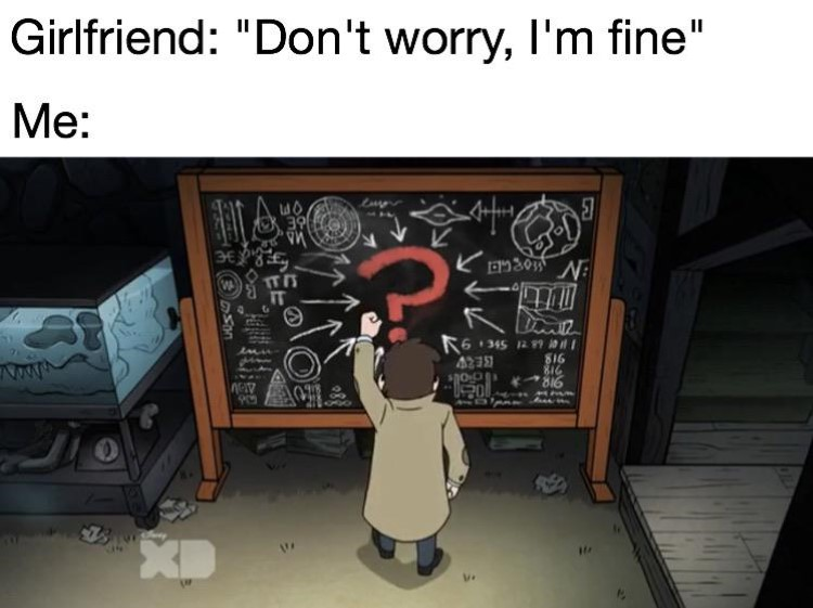 Dont worry I'm fine, solving a big puzzle meme