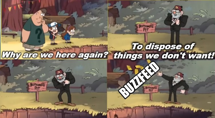 Why are we here again? Throwing away Buzzfeed